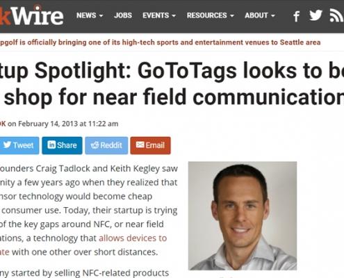 geekwire startup spotlight gototags nfc craig tadlock ceo founder